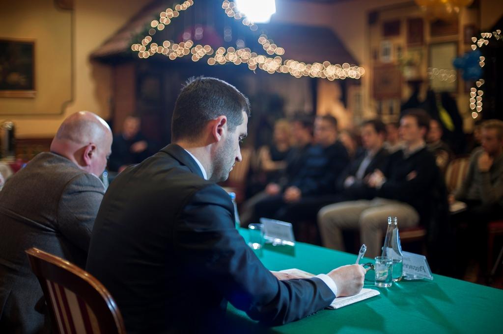 Drugi panel konferecji poświęcony NATO, Niemcom i Rosji. Fot. Regionalny Ośrodek Debaty Międzynarodowej w Krakowie